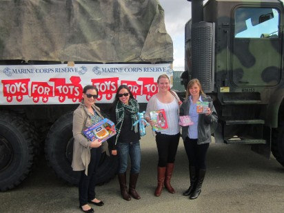 Theta's support Toys for Tots at the SF Alumnae Day at the Races